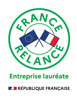 Sticker Entreprise Lauréate distribué par France Relance