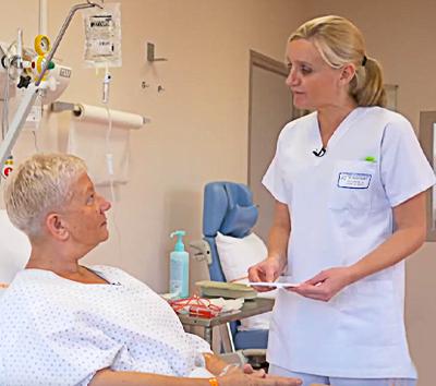 Lecture du CULM au lit de la patiente